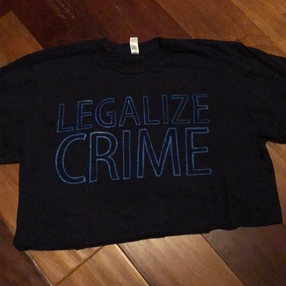 "American Apparel Tops - ""Legalize Crime"" T-shirt"